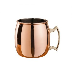 Moscow Mule Mug, curved, 450 ml, brass handle